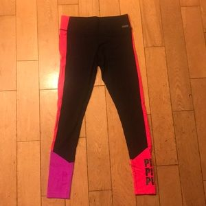 Black Ultimate Legging with Pink Side Paneling